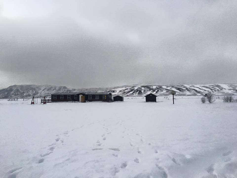 Volcano huts