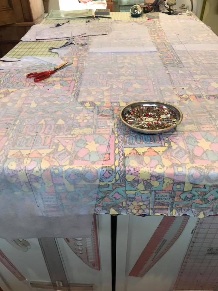 fabric on table